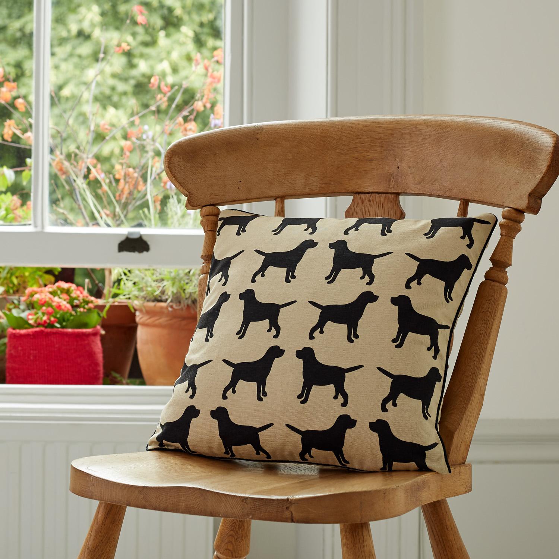 The Labrador Company-Black Labrador Cotton Cushion