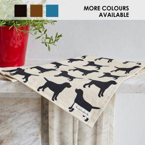 The Labrador Company-Black Labrador Print Tea Towel