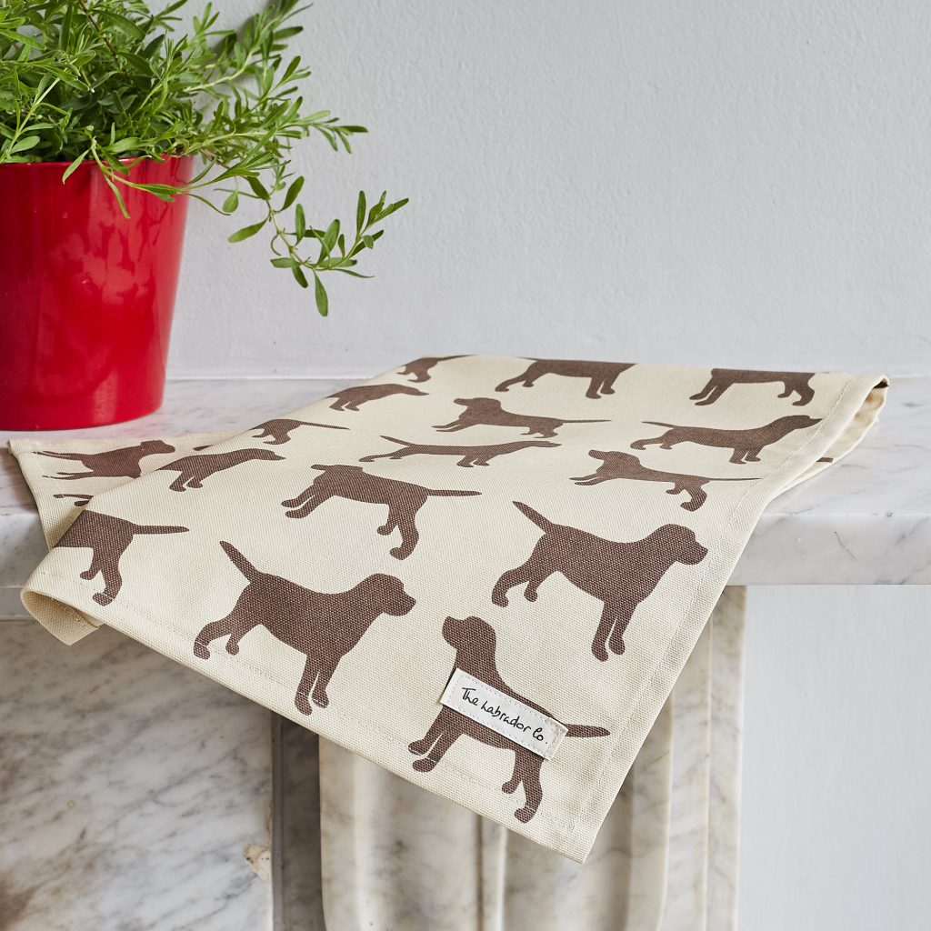 The Labrador Company-Black Labrador Print Tea Towel 5