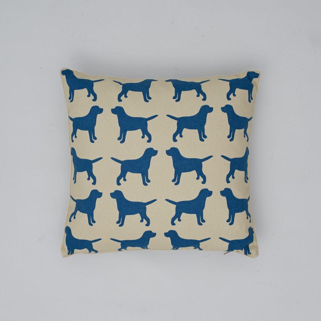 The Labrador Company-Blue Labrador Cotton Cushion 1