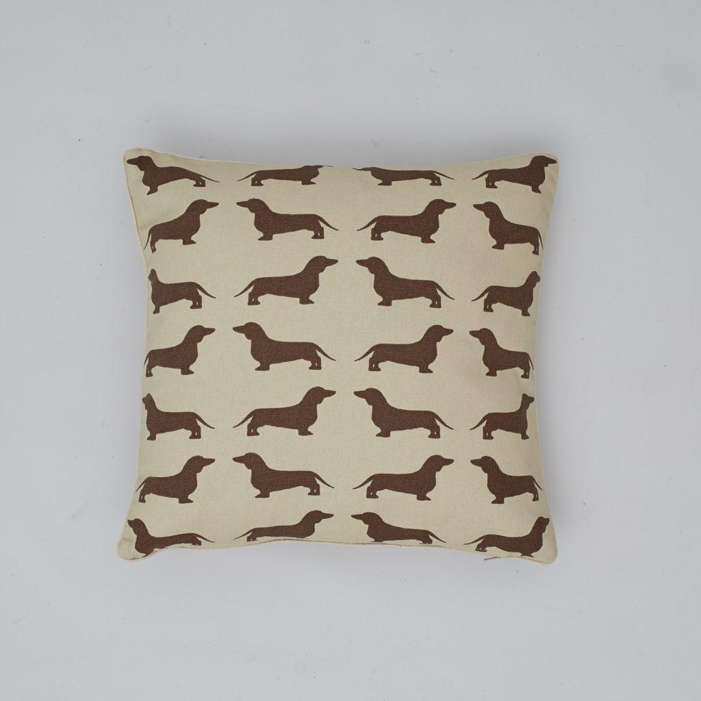 The Labrador Company-Brown Dachshund Cotton Cushion 1