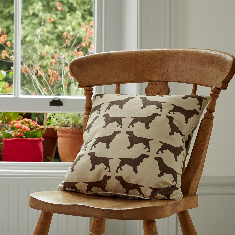 The Labrador Company-Brown Spaniel Cotton Cushion