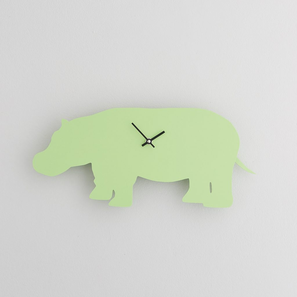 The Labrador Co.-Green Hippo Clock with wagging tail - last one!