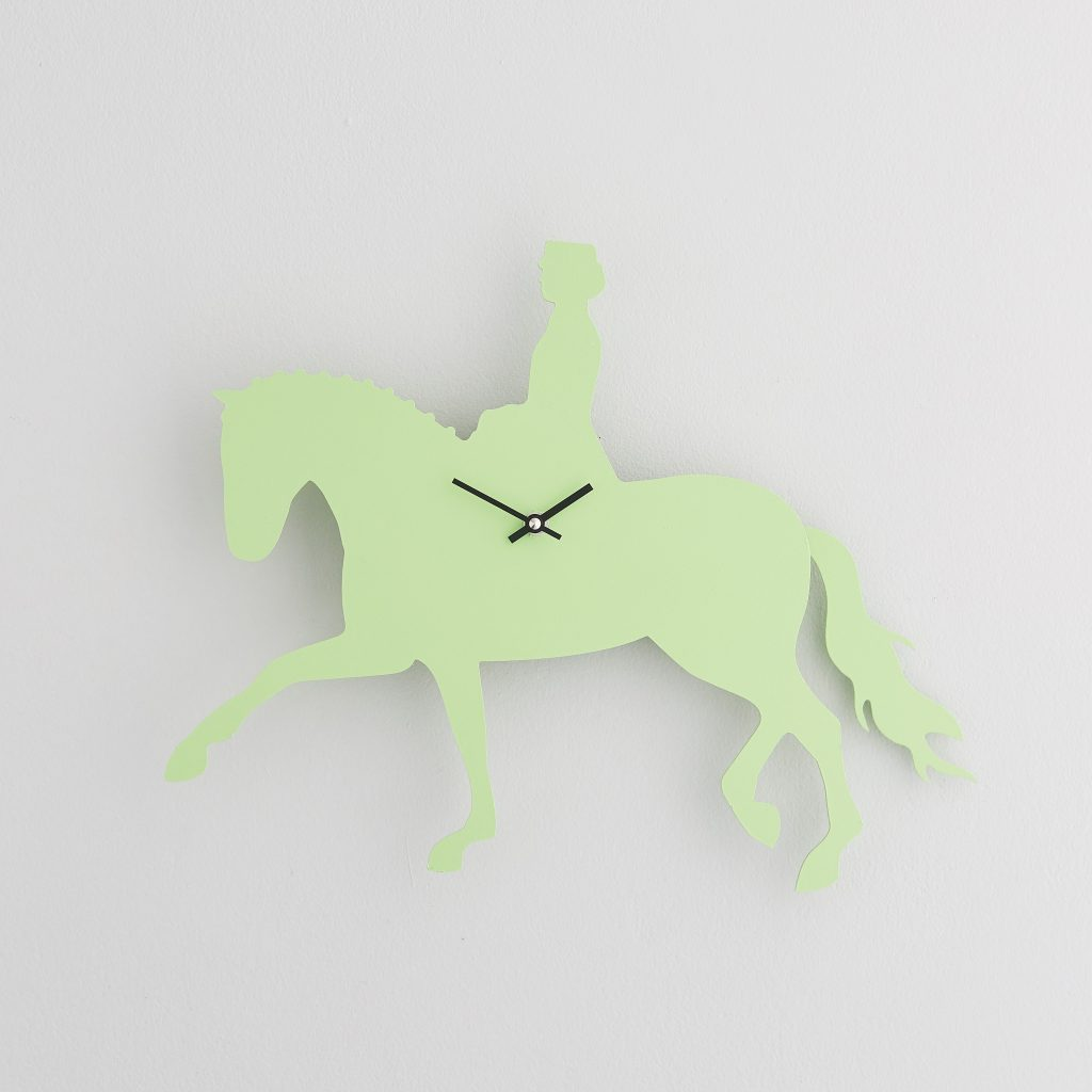 The Labrador Co.-Green Dressage Clock with wagging tail - last one!