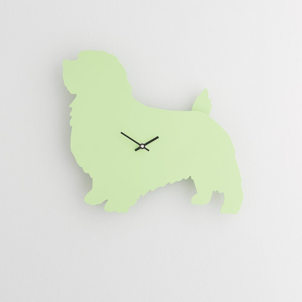 The Labrador Co.-Green Terrier Clock with wagging tail - last one!