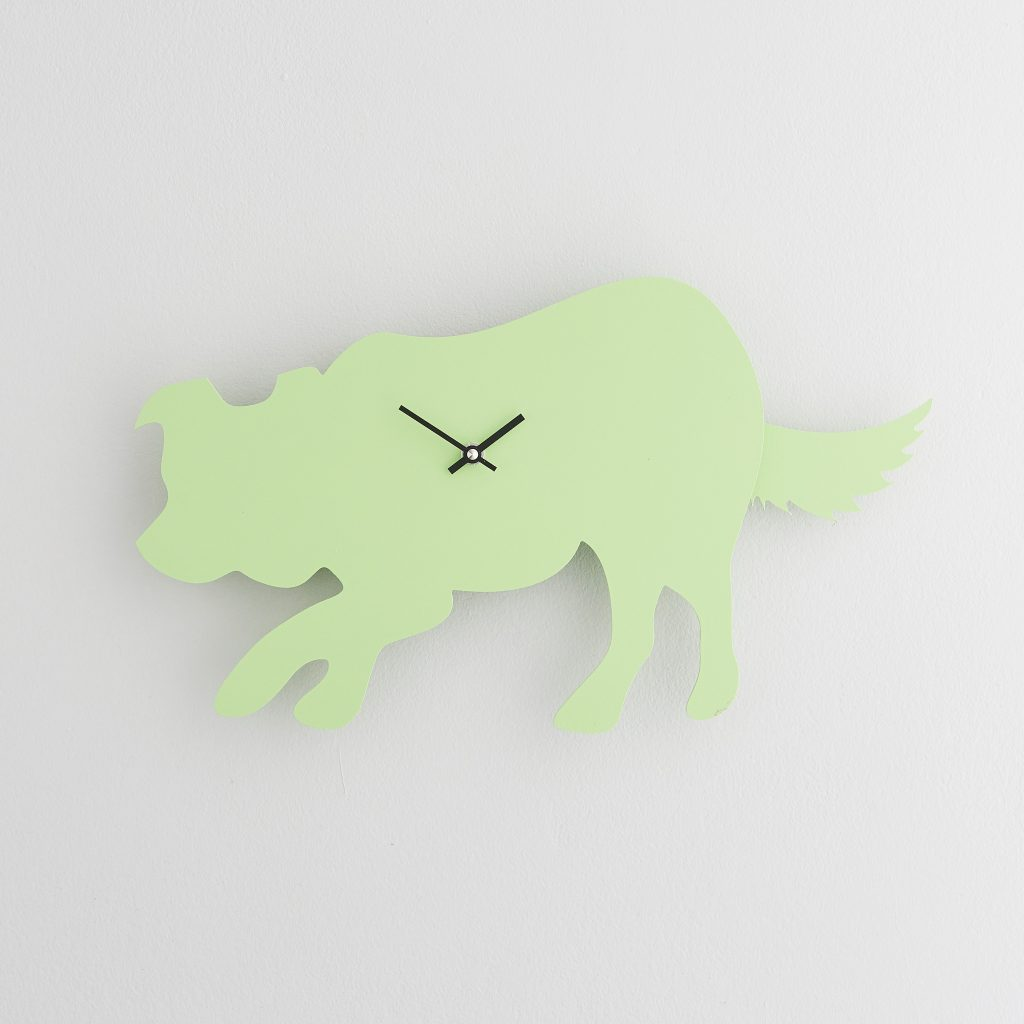 The Labrador Co.-Green Border Collie Clock with wagging tail - last one!