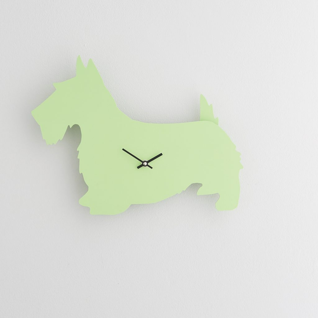 The Labrador Co.-Green Scottie Clock with wagging tail - last one! (Copy)