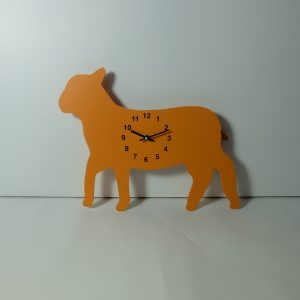 The Labrador Co.-Orange Lamb clock with wagging tail - Last one!