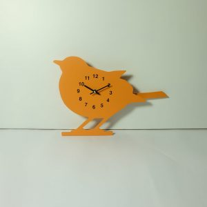 The Labrador Co.-Orange Robin Clock with wagging tail - last one!
