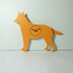 The Labrador Co.-Orange German Shepherd Clock with wagging tail - last one!