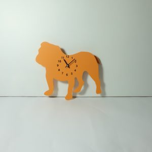 The Labrador Co.-Orange British Bulldog Clock with wagging tail - last one!