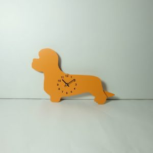 The Labrador Co.-Orange Dandie Dinmont Clock with wagging tail - last one!