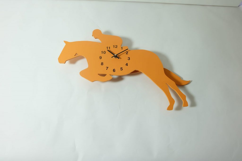 The Labrador Co.-Orange Show Jumper Clock with wagging tail - last one!