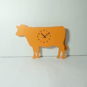 The Labrador Co.-Orange Cow Clock with wagging tail - last one!