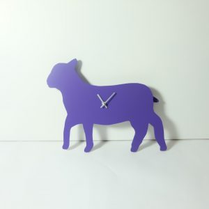 The Labrador Co.-Purple lamb clock with wagging tail - last one!