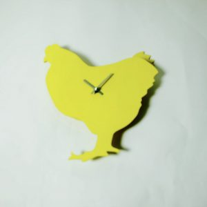 The Labrador Co.-Yellow Chicken Clock with wagging tail - last one!