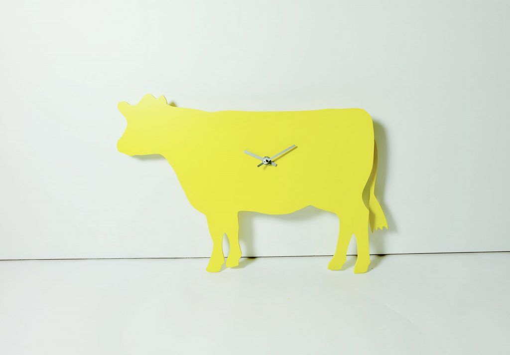 The Labrador Co.-Yellow Cow Clock with wagging tail - last one!