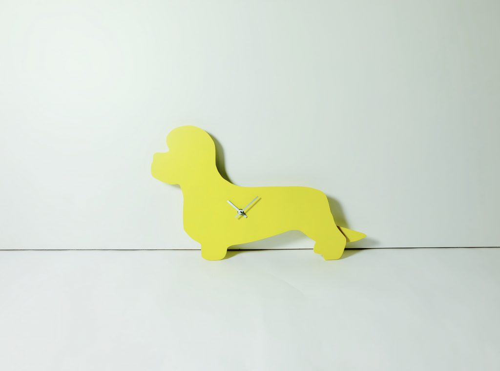 The Labrador Co.-Yellow Dandie Dinmont Wagging Tail Clock - Last one!