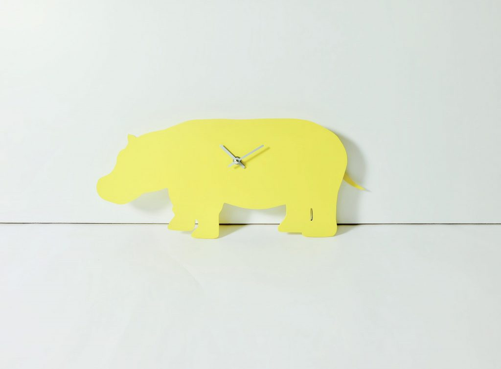 The Labrador Co.-Yellow Hippo Clock with wagging tail Last one!