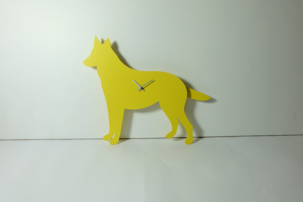 The Labrador Co.-Yellow Spaniel wagging tail clock - last one!