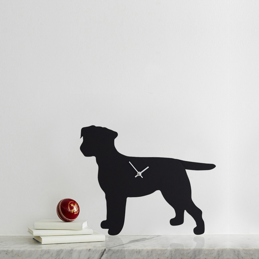 The Labrador Co.-Border Terrier Clock 1