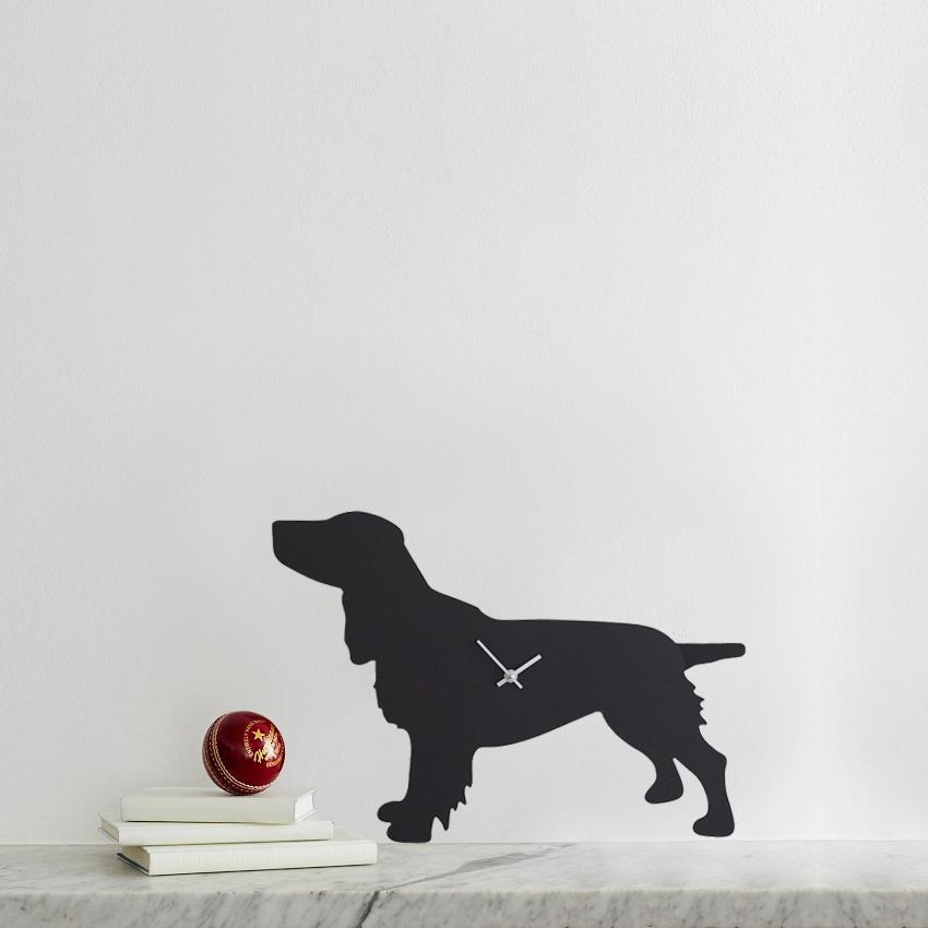 The Labrador Co.-Spaniel Clock - Black 1