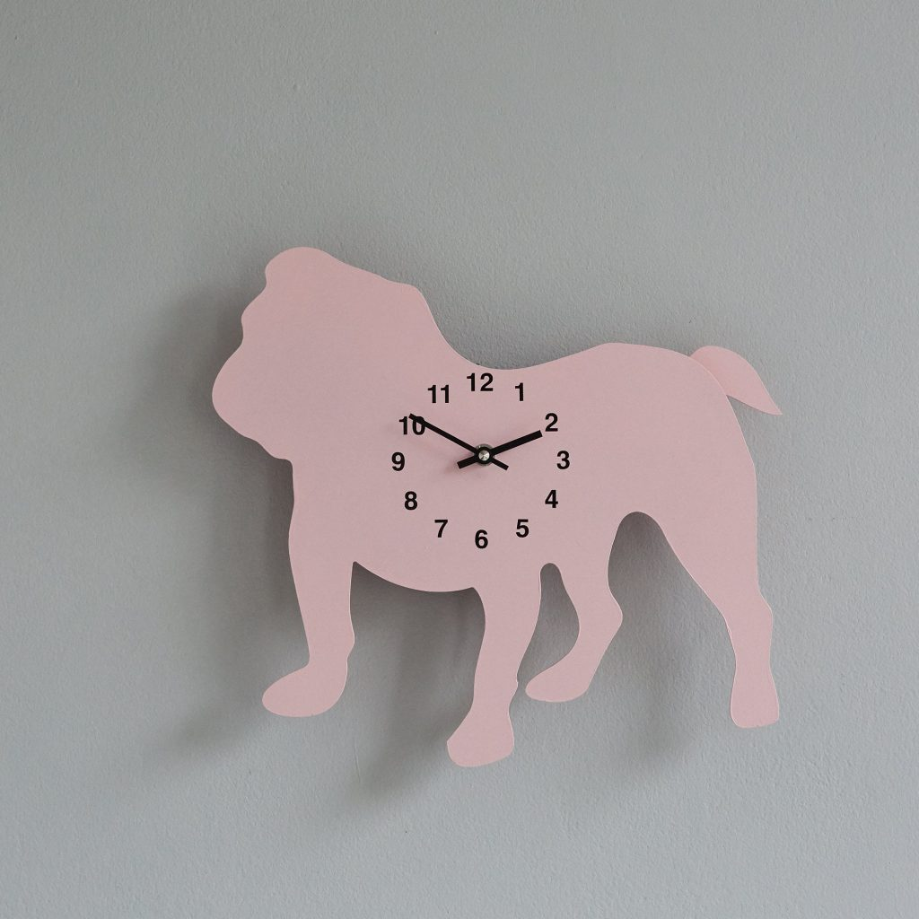 The Labrador Co.-Pink Pug Clock with wagging tail - last one!