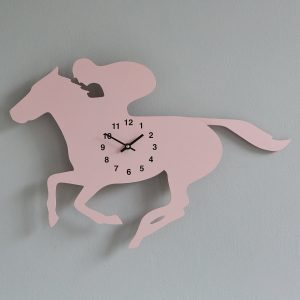 The Labrador Co.-Pink Race Horse Clock with wagging tail - last one!
